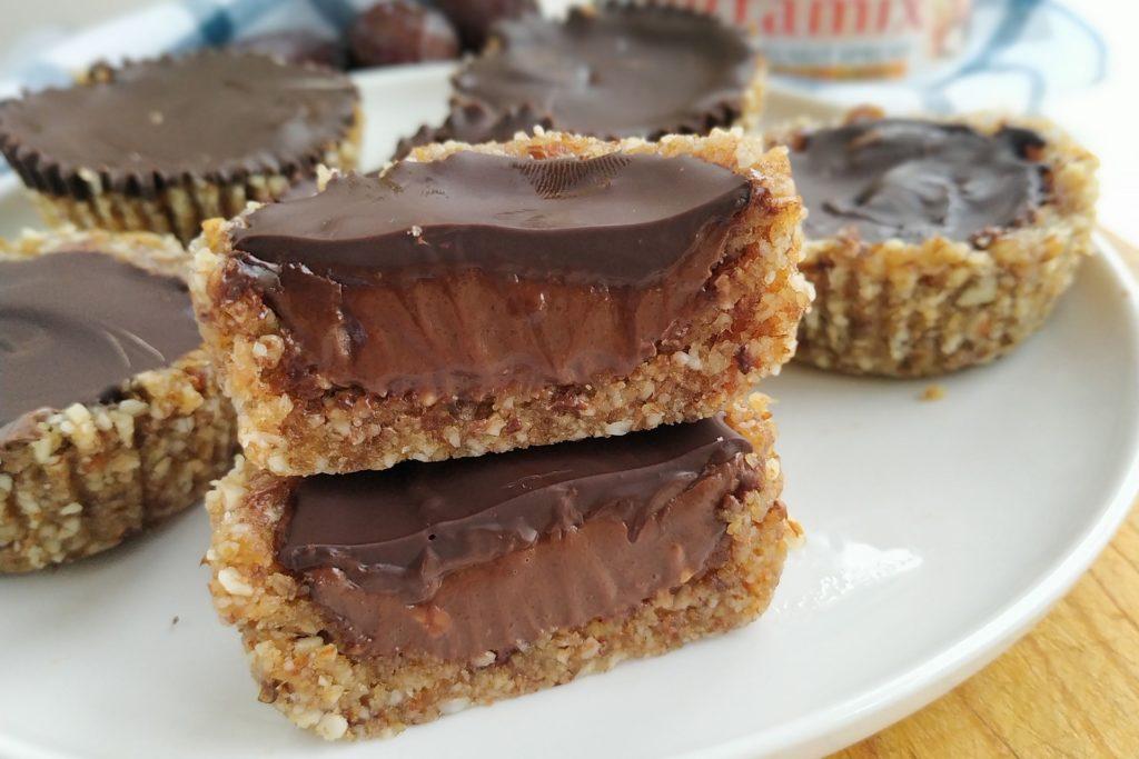 minitartas de frutos secos y chocolate