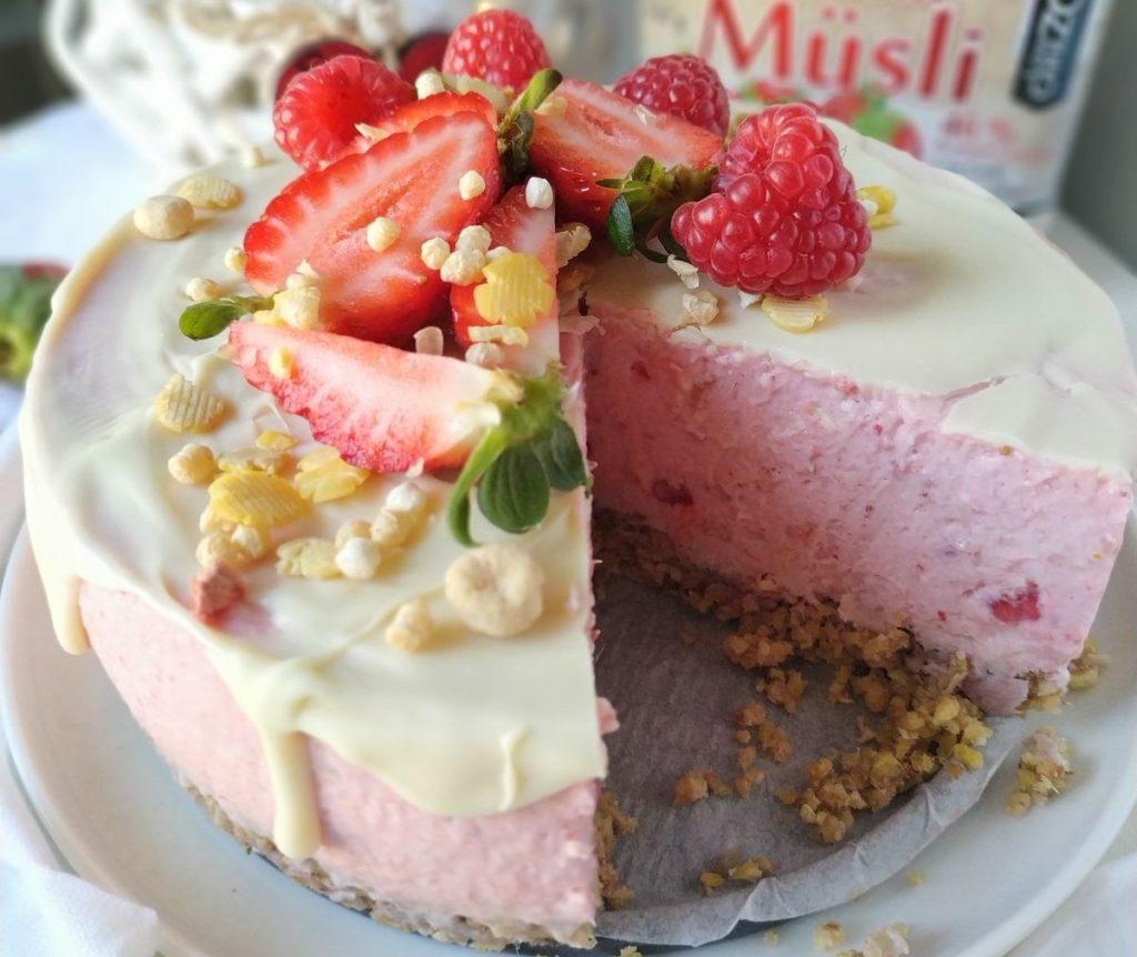 tarta de yogur y muesli